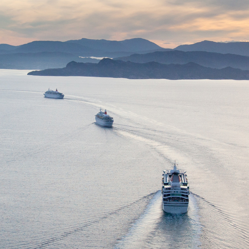 Fred.Olsen Cruise Lines, Boats at Sea